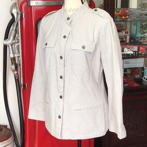 J. Jill pinstriped, Cotton Blend Jacket